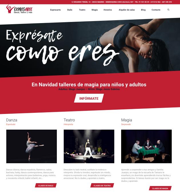 Diseño web y SEO para Expresarte Madrid